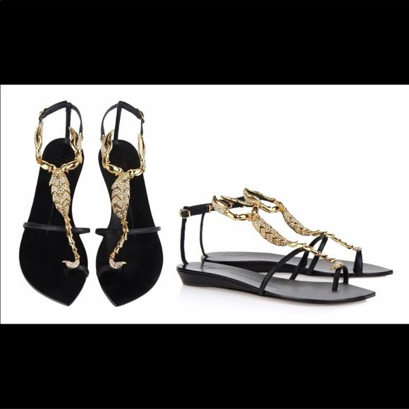 Giuseppe Zanotti Shoes - Giuseppe Zanotti Scorpion flat sandal